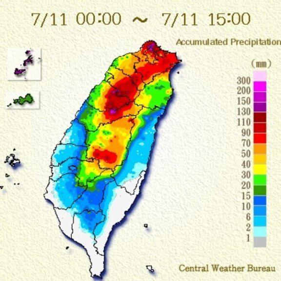 Immense Regenmengen in Taiwan.