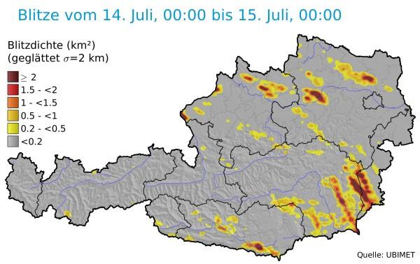 Im Berzirk Hartberg-Fürstendeld ging ein Hagelunwetter nieder.