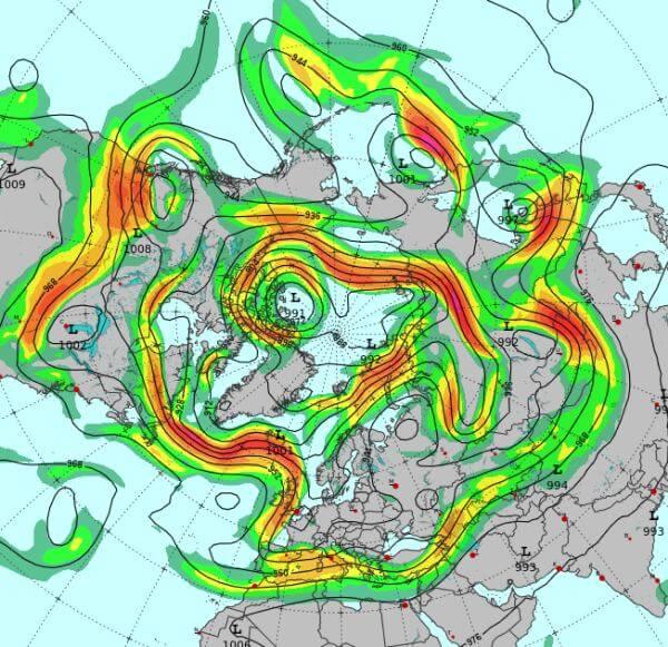 Der Jetstream ist ein polarumlaufendes Starkwindband.