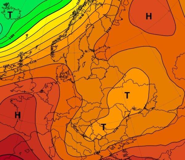 In Südosteuropa gab es kräftige Gewitter.