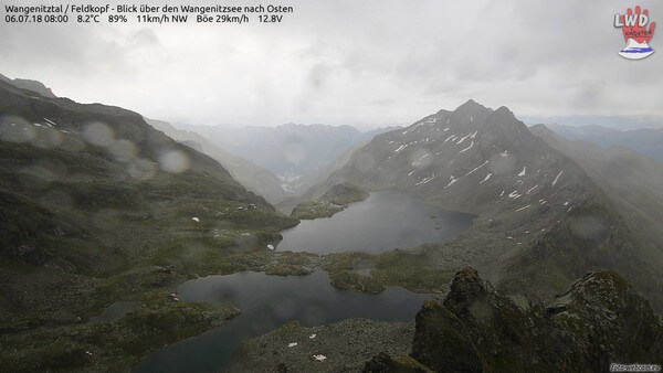Ein verregneter Tag in den Alpen