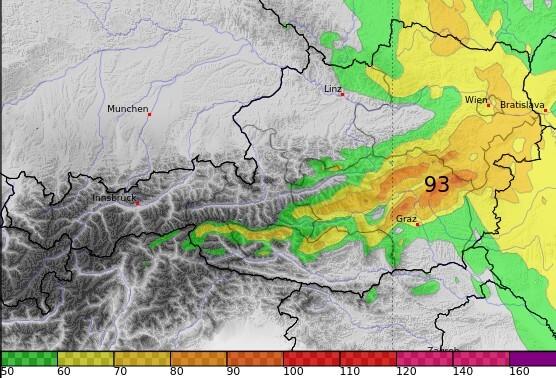 Besonders im Osten Österreichs sind stürmische Böen zu erwarten.