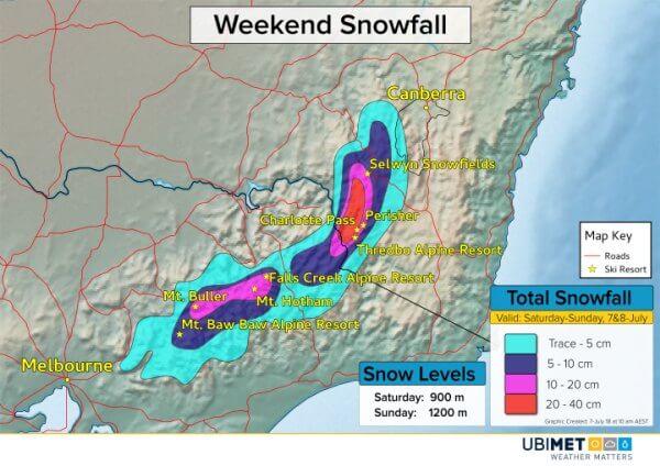 Besonders in den Alpen von NSW gibt es viel Neuschnee.