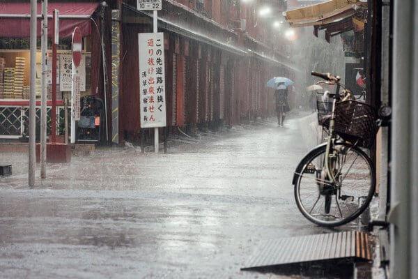Besonders im Südwesten Japans gab es schwere Überflutungen.