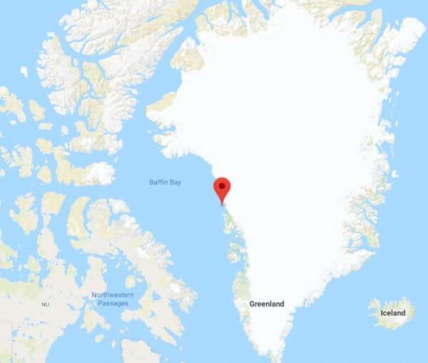 Innaarsuit liegt an der Westküste von Grönland.