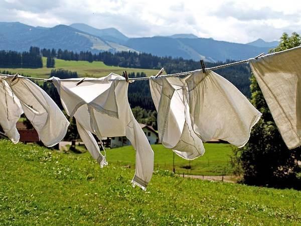Perfektes Wetter zum Wäsche trocknen