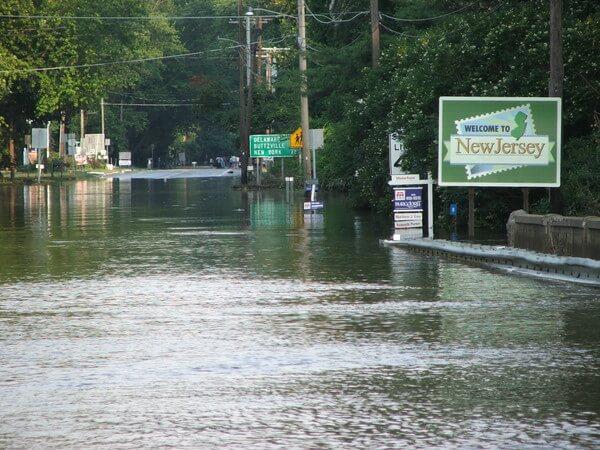 Im Osten der USA sorgten anhaltende Regenfälle für Überflutungen.