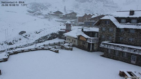 Kräftiger Schneefall in Obertauern