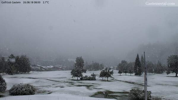 Der erste Schnee in Bad Gastein.