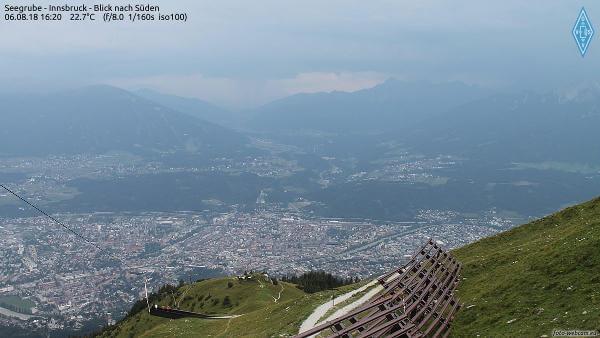 Webcam Seegrube, Blick nach Süden über Innsbruck - © foto-webcam.eu