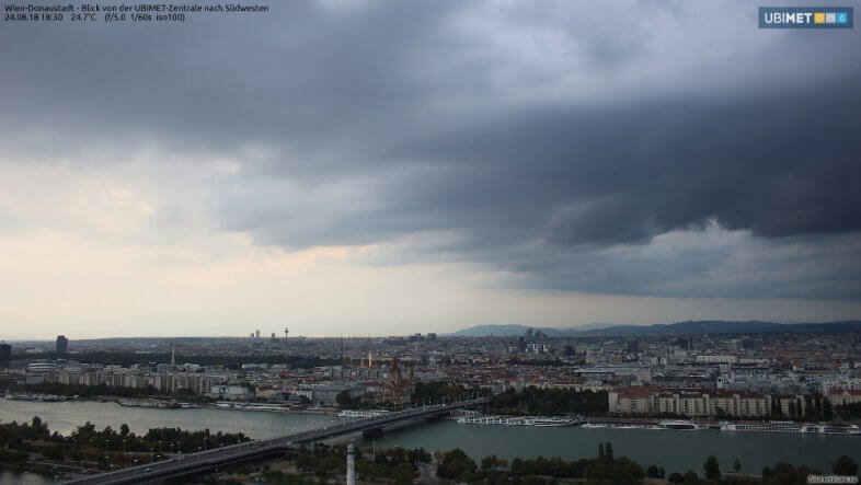 Webcambild UBIMET - Wien Donaustadt um 18:30