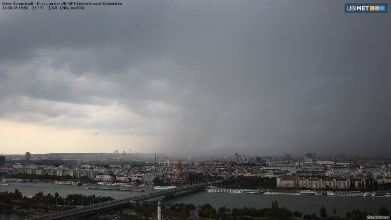 Webcambild UBIMET - Wien Donaustadt um 18:50