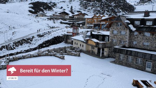 Der erste Schnee in Österreich, 26.08.2018