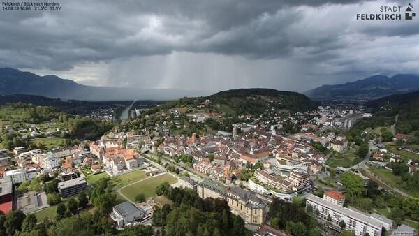Aufnahme der Foto-Webcam von Feldkirch am 14.08.2018 © https://www.foto-webcam.eu/webcam/feldkirch