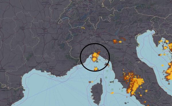 Gewitter über dem Golf von Genua © UBIMET / NOWCAST