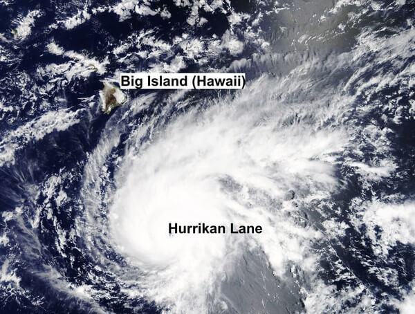 Hurrikan Lane sorgte auf Hawaii für immense Regenmengen