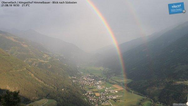 Regenbogen nach einem Gewitter im August.