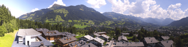 Aufnahme einer Panomax-Kamera (Ausschnitt) in Kitzbühel am 19.08.2018 © https://austria-trend.panomax.com/kitzbuehel