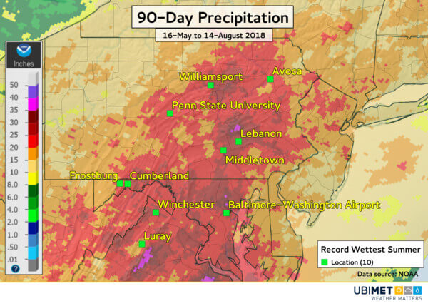 Lokal hat es mehr als 800 Liter pro Quadratmeter geregnet.