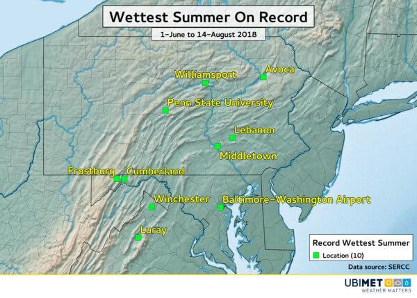 Viele Orte melden den nassesten Sommer ihrer Messgeschichte.