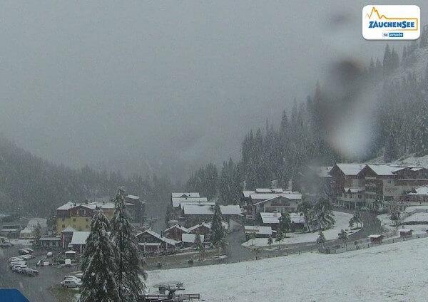 Schneefall in Zauchensee