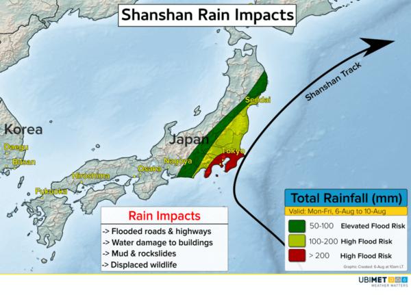 Niederschlagsprognose für Taifun SHANSHAN