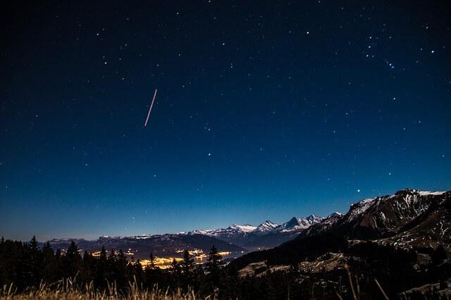 Die Perseiden am Nachthimmel