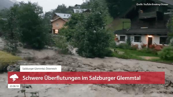 Schweres Unwetter im Salzburger Glemmtal