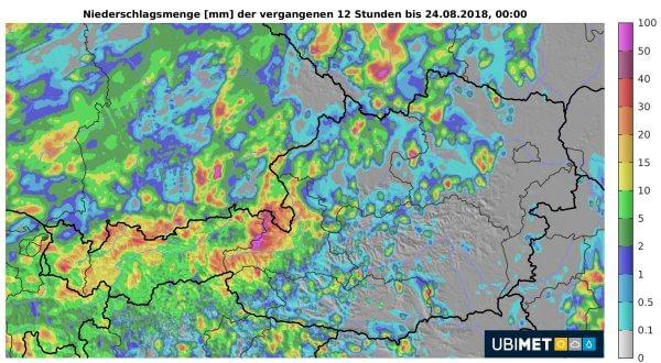 Vor allem im Pinzgau gab es ergiebige Regenmengen.