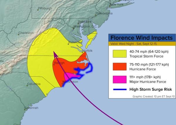 Heftiger Regen, eine Sturmflut und orkanböen sind zu befürchten