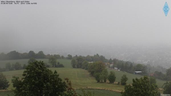 Das Gewitter am Bisamberg. © www.foto-webcam.eu