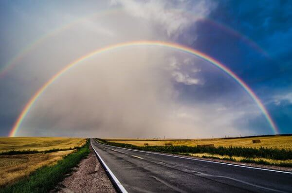Regenbogen nach einem Schauer.