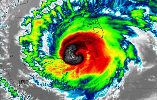 Die Sturmflut von Hurrikan Florence trifft auf die USA