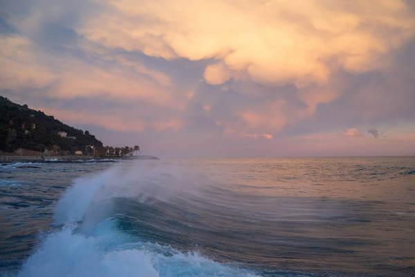 Abendliches Gewitter am Mittelmeer