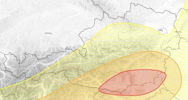 Besonders von Kärnten bis zum Südburgenland gehen Gewitter neider.