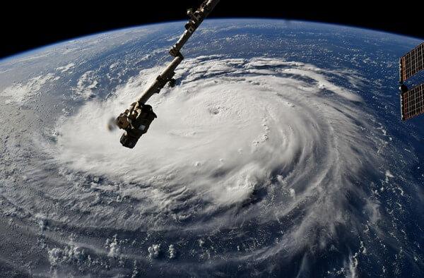 Die Sicht vom Weltraum auf Hurrikan Florence