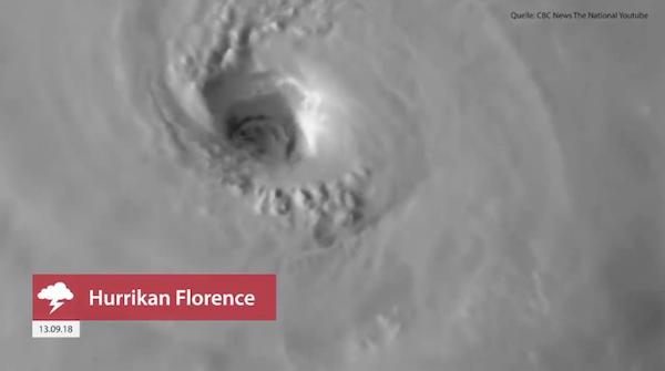Hurrikan Florence, 13.09.2018