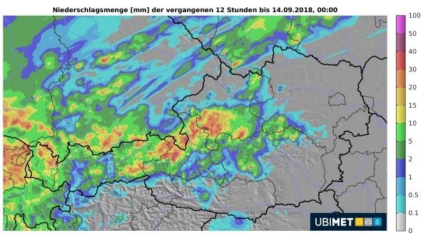 Besonders im Pinzgau und im Salzkammergut gab es kräftige Gewitter