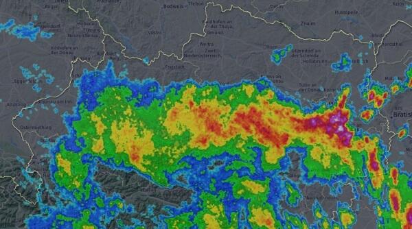 Radarbild um 14:30. © AustroControl / UBIMET