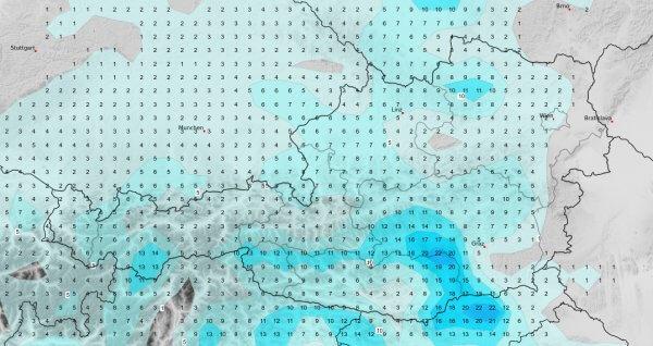 Vor allem im Süden gibt es kräftige Gewitter