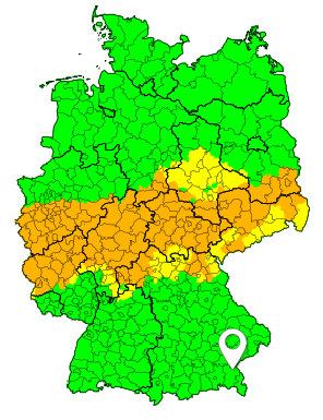 Regenwarnungen, Stand: Sonntag, 23.09.2018, 12:00 Uhr @ Deutsches Unwetterradar www.uwr.de