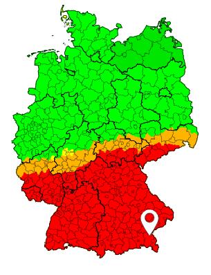 Sturmwarnungen, Stand: Sonntag, 23.09.2018, 12:00 Uhr @ Deutsches Unwetterradar www.uwr.de