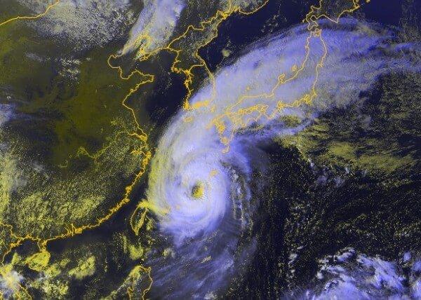 Taifun Trami am Samstagabend (Lokalzeit).