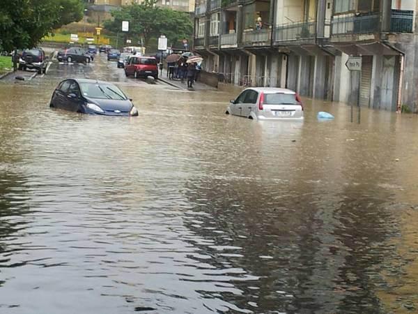 Überflutungen in Catania