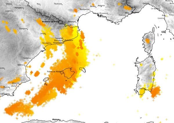 Auf Mallorca gab es heftige Gewitter