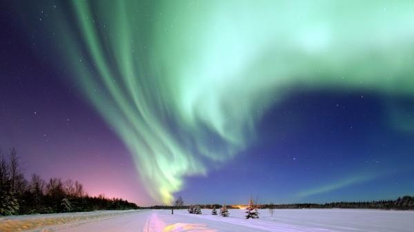 Die Polarnacht bringt lange Dunkelheit im hohen Norden