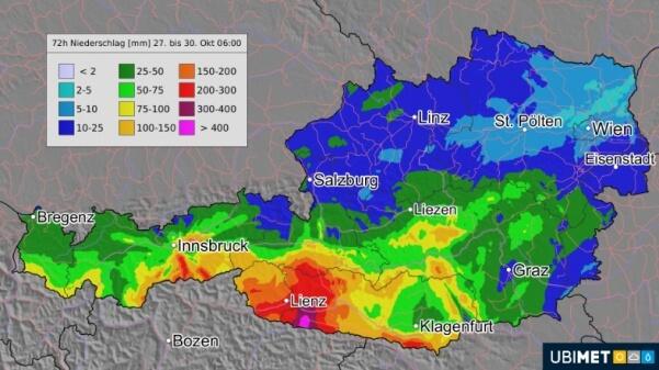 In Osttirol und Kärnten gibt es Hochwasser