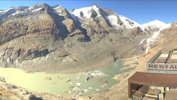 Blick auf den Gletschersee.