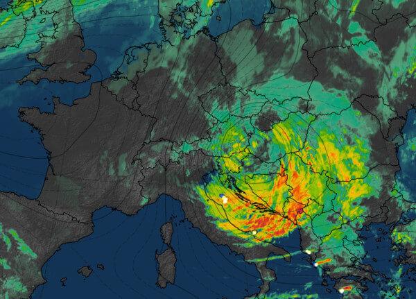 Höhentief im Satellitenbild, 21.10.2018 @ UBIMET