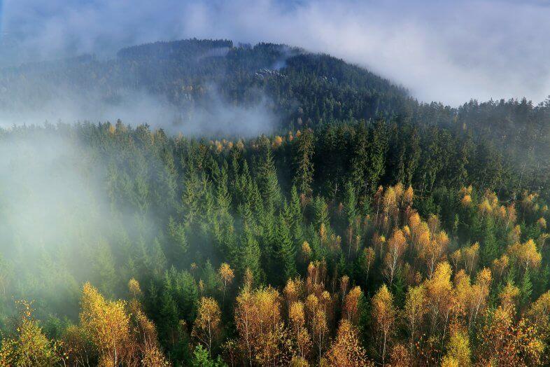 Am Dienstag Sonne-Wolken-Nebel-Mix